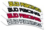 Kit autocollants de garde boue avant Bud Racing
