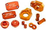 Zeta Alu-Frästeile-Kit KTM 450XC-W 08-16 - 500XC-W/EXC (SIX DAYS) 12-18 Orange